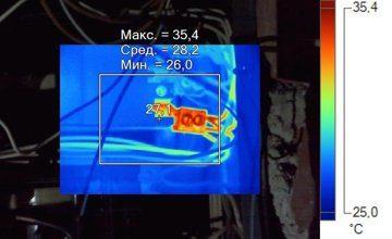 Тепловизия щита в составе работ по проведению энергетического или электротехнического обследования - перегрев контакта
